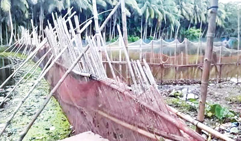 Dakatia River being grabbed at Raipur