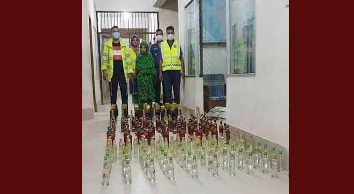 191 bottles of Indian whisky found at home, woman arrested