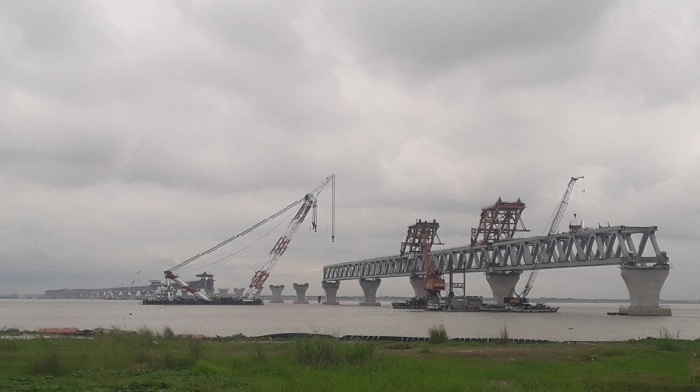Padma Bridge: 34th span couldn't be installed for inclement weather