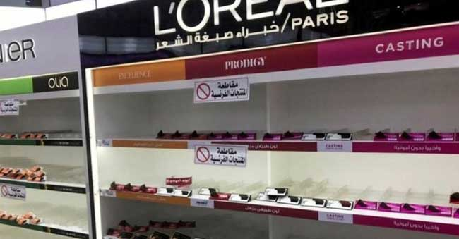 France urges Arab nations to prevent boycotts
