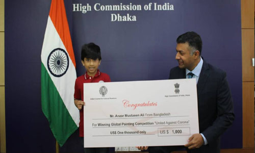 Bangladeshi boy wins global art contest by ICCR