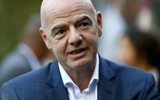 FIFA's President Gianni Infantino is seen at the FIFA headquarters in Zurich, Switzerland September 30, 2020. Reuters