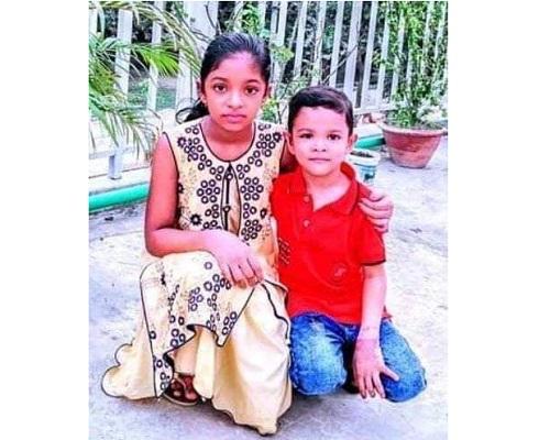 Sultana Ishita and her brother Mosaddek Hossain Shahin.