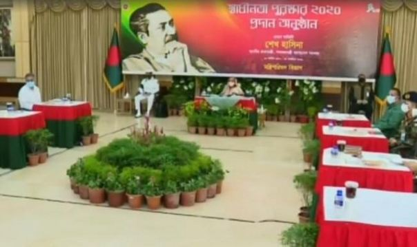 PM Hasina hands over Independence Award-2020
