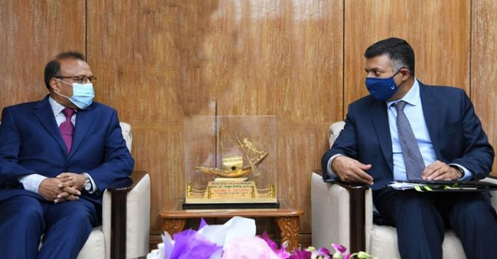 Indian High Commissioner Vikram Kumar Doraiswami on Thursday paid a courtesy call on Local Government, Rural Development and Cooperatives (LGRD) minister Md Tajul Islam in the latter's office at the secretariat in Dhaka.
