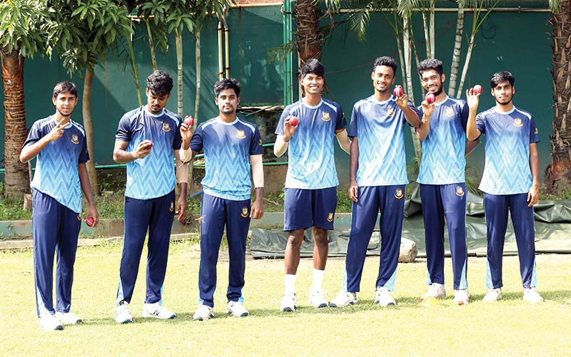 Bangladesh High Performance (HP) team players during practice session. 	photo: BCB