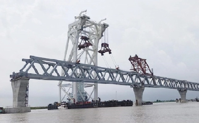Padma Bridge: 5.25km now visible after installation of 35th span