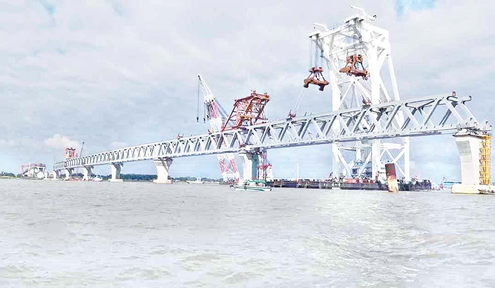 Padma Bridge's 36th span installed