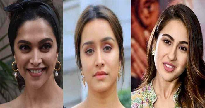 Deepika Padukone, Shraddha Kapoor and Sara Ali Khan (from the left).