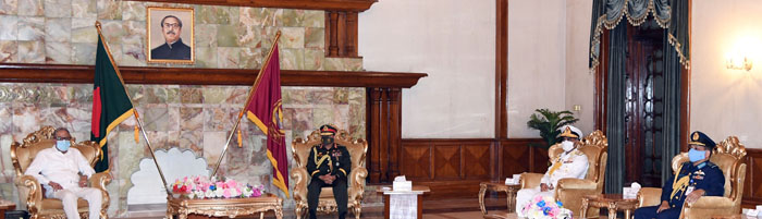 Armed Forces Day: 3 chiefs visit President in Bangabhaban