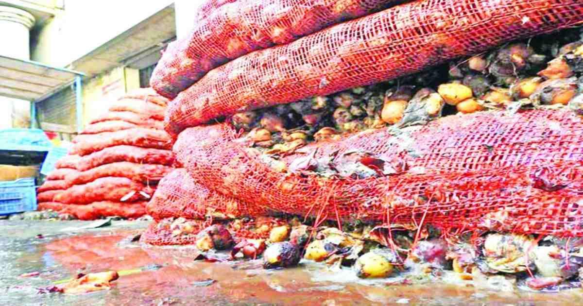 Traders reeling as rotten imported onions dumped in Khatunganj