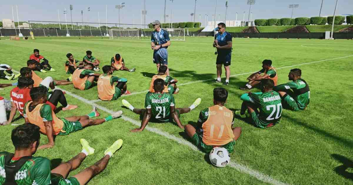 Booters get first practice session in Doha