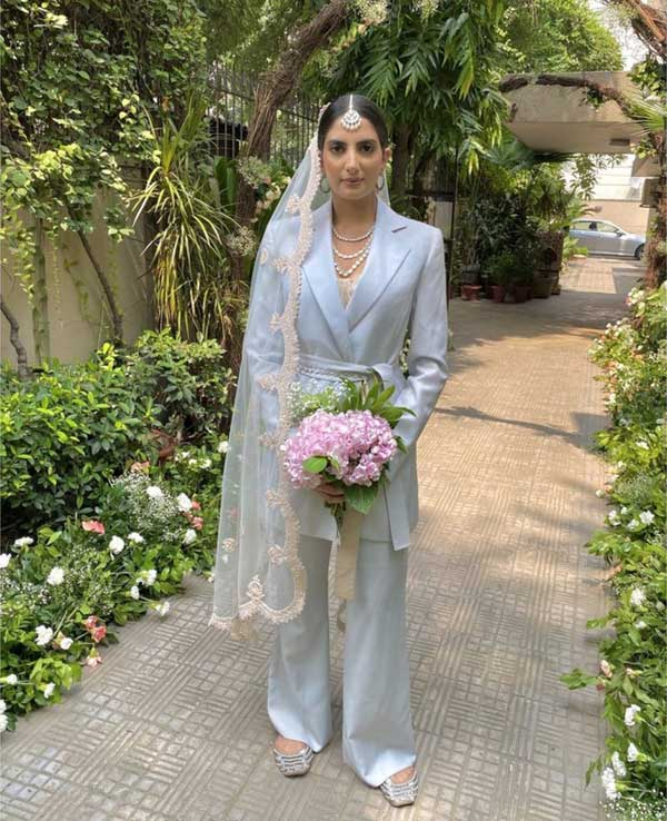 The Indian bride who wore a pantsuit to her wedding