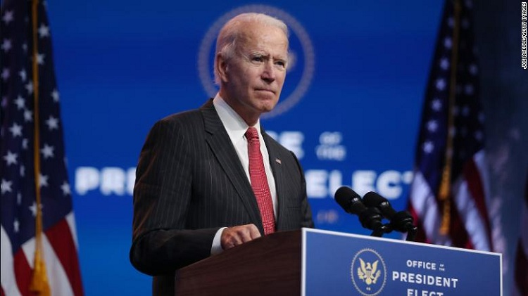 US President-elect Joe Biden. Photo: CNN