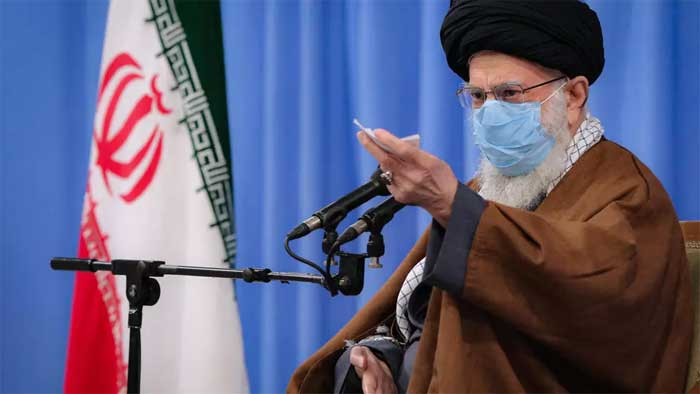 "Iran's supreme leader Ayatollah Ali Khamenei said ""we can't trust foreigners and hope for an opening on their part"" - KHAMENEI.IR/AFP"