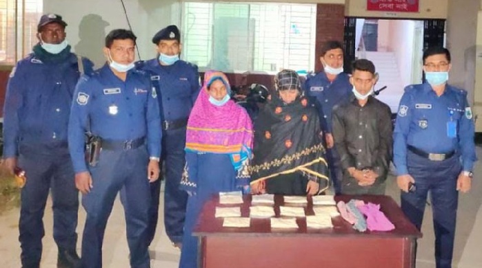 2 women among 3 held with 1.1kg heroin in Rajshahi