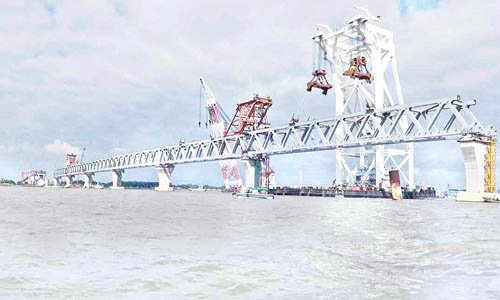 39th span of Padma Bridge installed, 5,850 meter visible