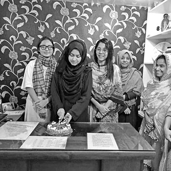 Sumi's hostel serves female students