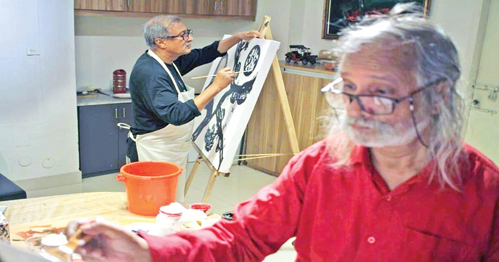 Enthralling artworks showcase Sheikh Hasina's eventful life