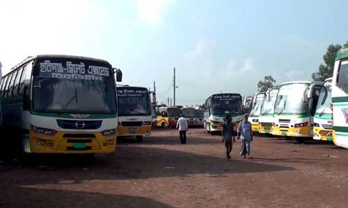 Bus services halted in Habiganj