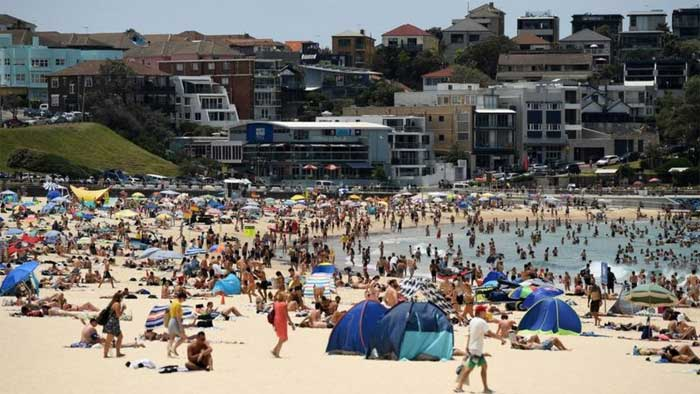 Temperatures in Sydney over the weekend have hit 40C -EPA