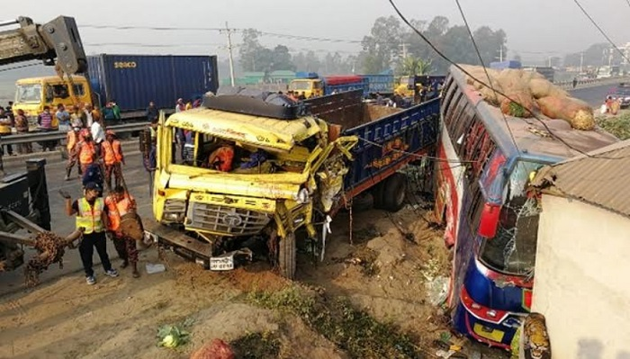 Six die in Tangail road accident