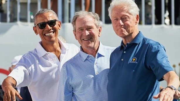 Former US presidents Barack Obama, George W Bush and Bill Clinton will take the vaccine