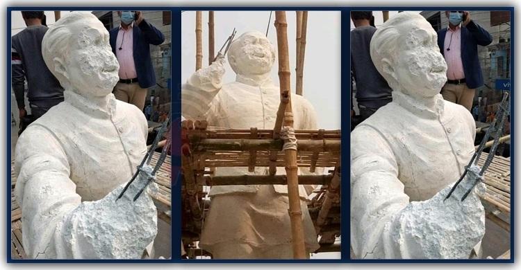 Bangabandhu's under-construction statues vandalised in Kushtia
