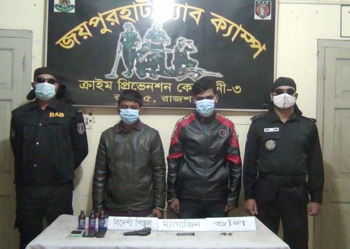 Listed criminal, assistant held in Joypurhat