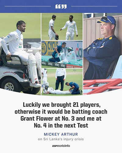 Sri Lankan physio can't be blamed for players' injuries