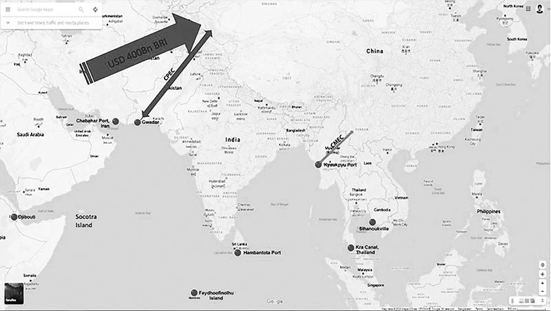 Small powers of South Asia in strategic competition