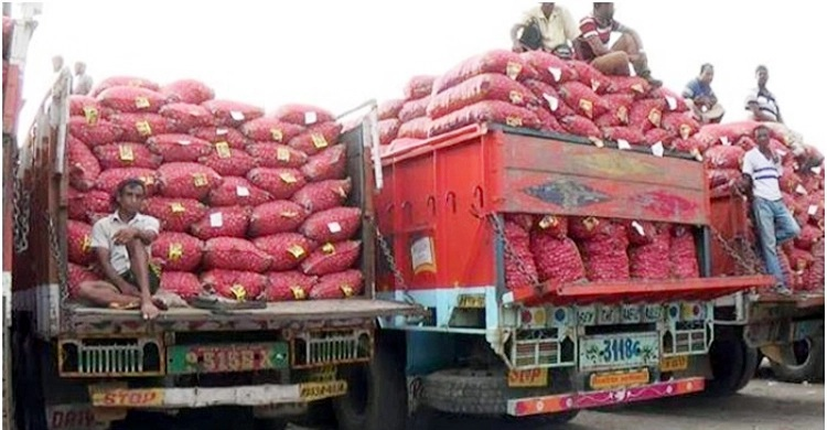 290 tons of onion come from India in two and a half hours