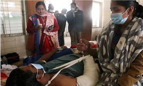 Noornagar ward Awami League general secretary Bazlur Rahman is undergoing treatment at RMCH