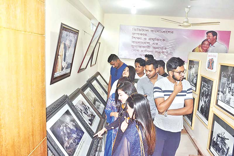 The photo shows some youths visiting Bangabandhu Memorial Museum Complex in Bagmara.photo: observer