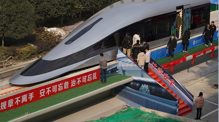 China debuts 'floating' train that can travel at 620km per hour