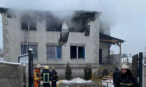 Ukraine nursing home fire leaves 15 dead