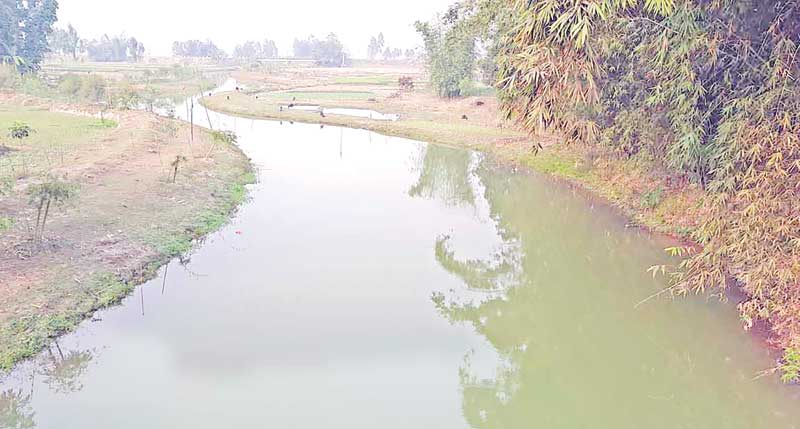 The Chawai River of Panchagarh reincarnated after its excavation.photo: observer