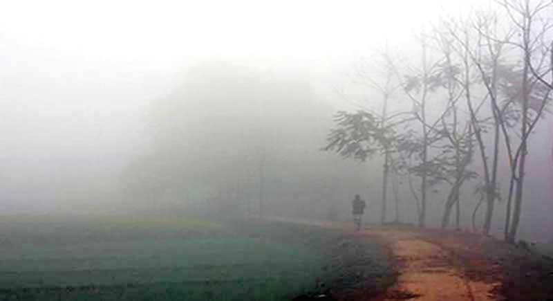Dense fog in Naogaon.photo: observer