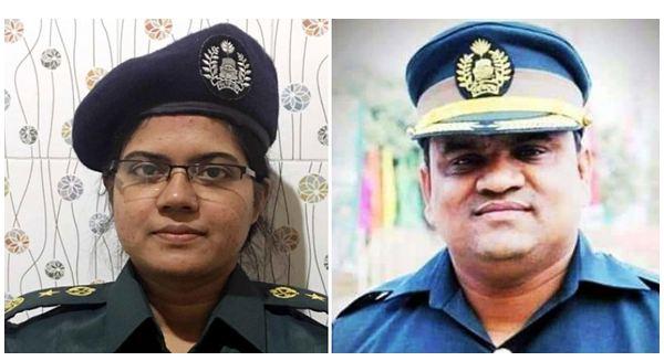 Kashimpur Central Jail-1 senior jail super Ratna Roy (left) and jailer Noor Mohammad Mridha (right)