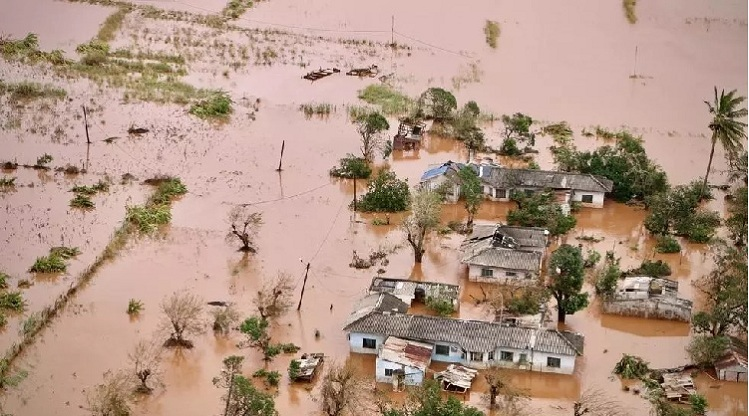 A flooded area of Buzi, central Mozambique, on March 20, 2019, after the passage of cyclone Idai. Photo: AFP