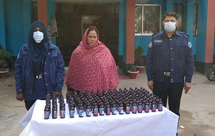Woman held with Phensedyl in Noakhali