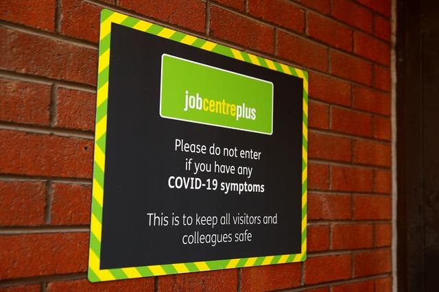 A signage of Jobcentre Plus is pictured, following the outbreak of the coronavirus disease (COVID-19), in Chester, Britain August 11, 2020. Photo: Reuters