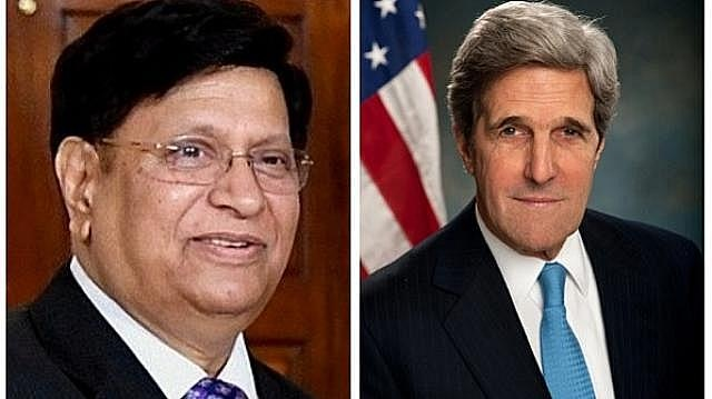 Bangladesh Foreign Minister Dr AK Abdul Momen and US climate envoy John Kerry