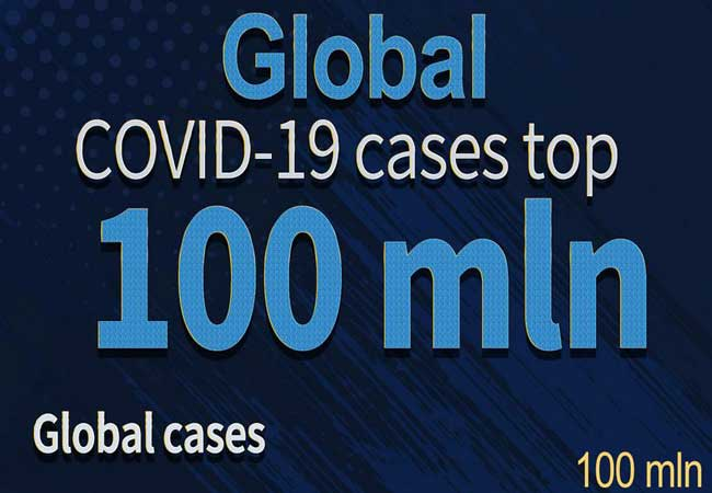 World reaches virus milestone: more than 100 million cases
