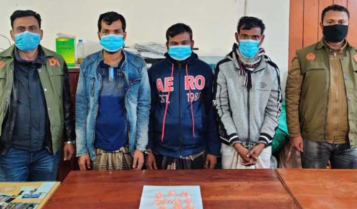 Five held with Yaba, hemp in Sirajganj
