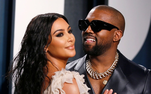 Kim Kardashian and Kanye West attend the Vanity Fair Oscar party in Beverly Hills during the 92nd Academy Awards, in Los Angeles, California, US, February 9, 2020. Photo: Reuters