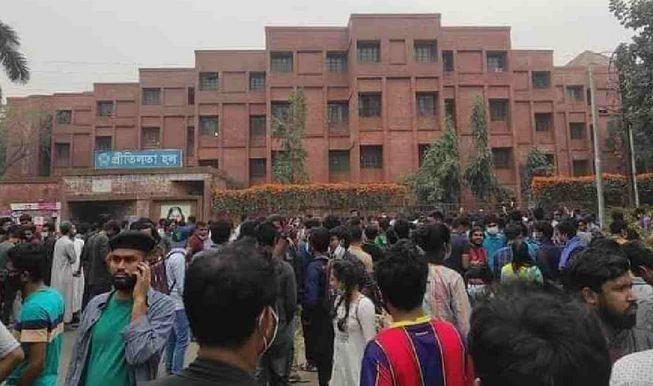 JU students staying at halls defying order