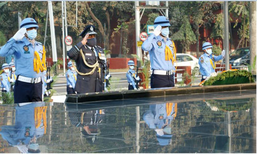 Indian air chief pays tribute at Shikha Anirban