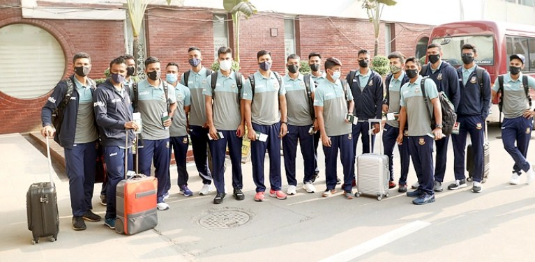 Bangladesh cricket team leave for New Zealand tour