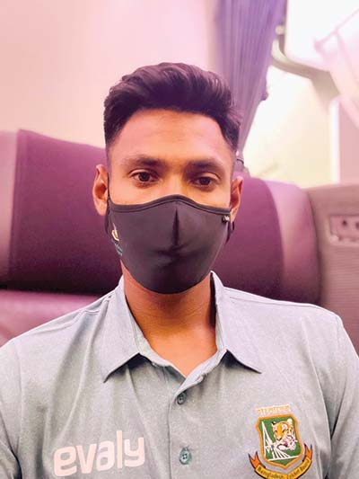 Mustafizur Rahman posted this photo on his facebook page citing 'Off to New Zealand'.